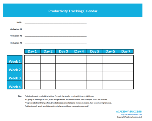 printable habit and productivity tracking calendar